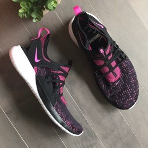 Nike Flex Contact 3 Black and Pink Running Sneaker